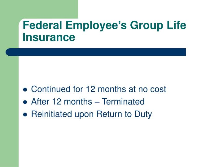 Federal Employee's Group Life Insurance