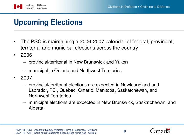Upcoming Elections