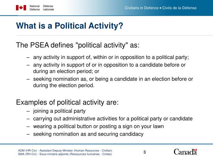 What is a political activity