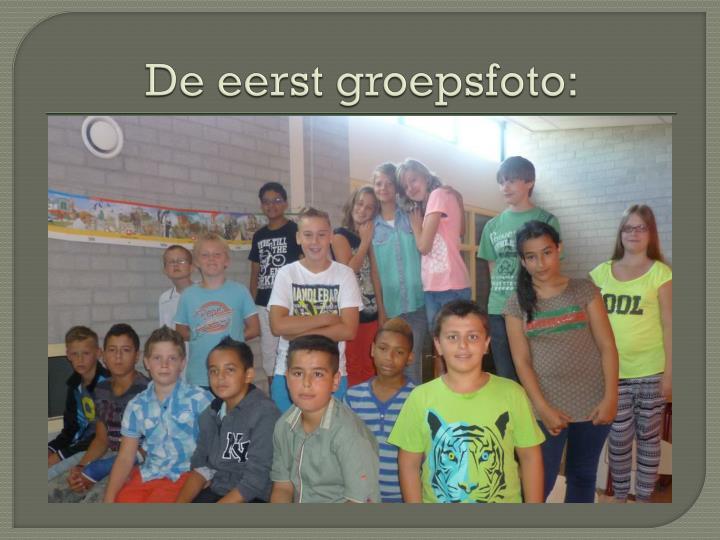 De eerst groepsfoto: