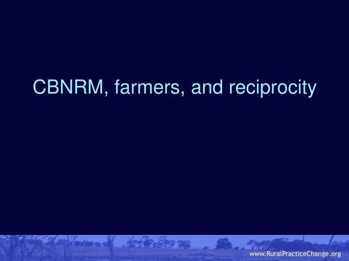 CBNRM, farmers, and reciprocity