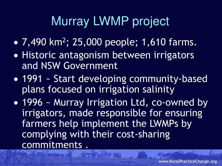 Murray LWMP project