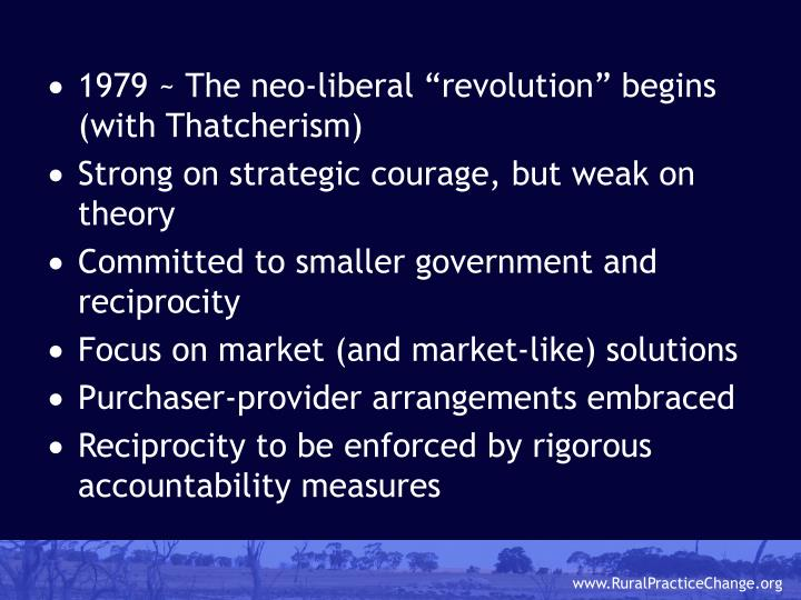 """1979 ~ The neo-liberal """"revolution"""" begins (with Thatcherism)"""