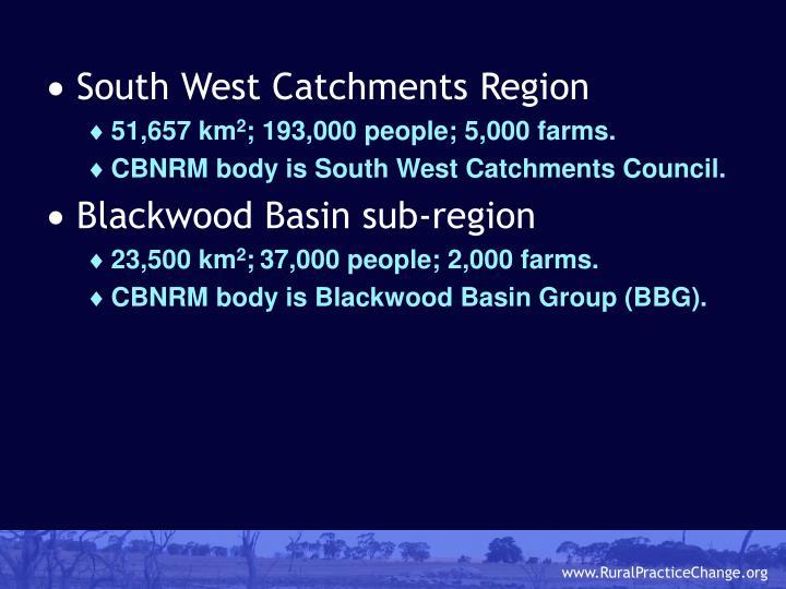 South West Catchments Region