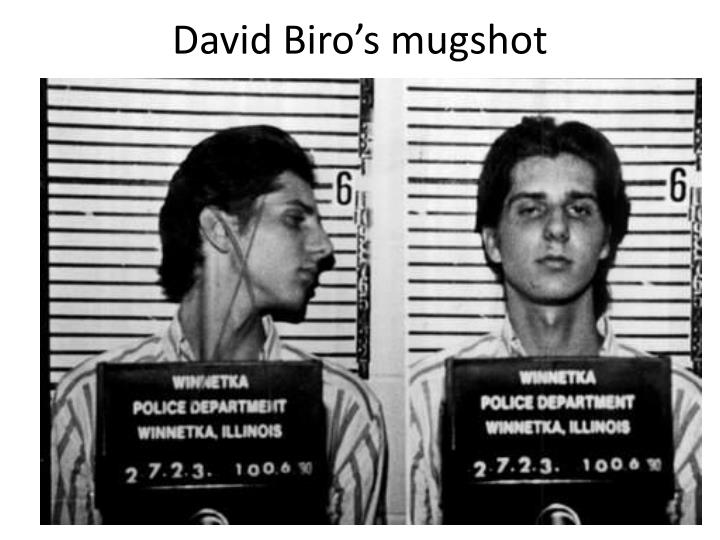 David Biro's mugshot