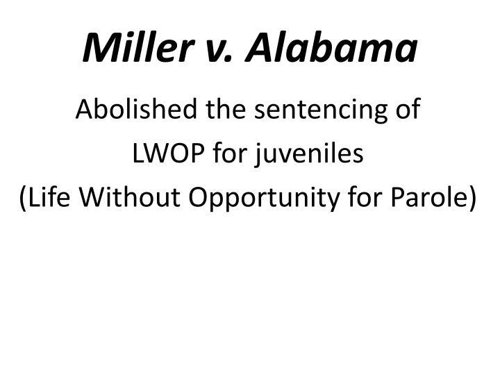 Miller v. Alabama