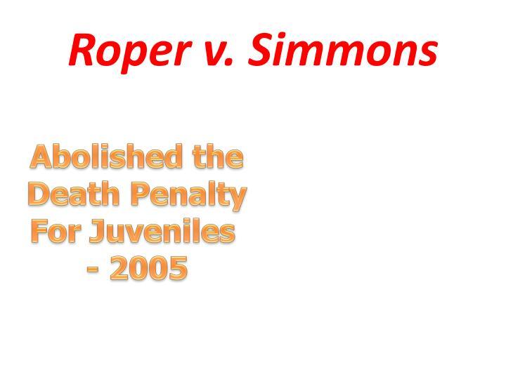 Roper v. Simmons