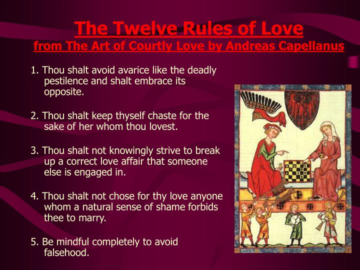 The Twelve Rules of Love