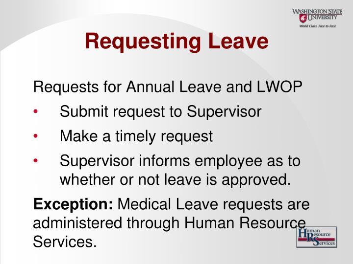 Requesting Leave
