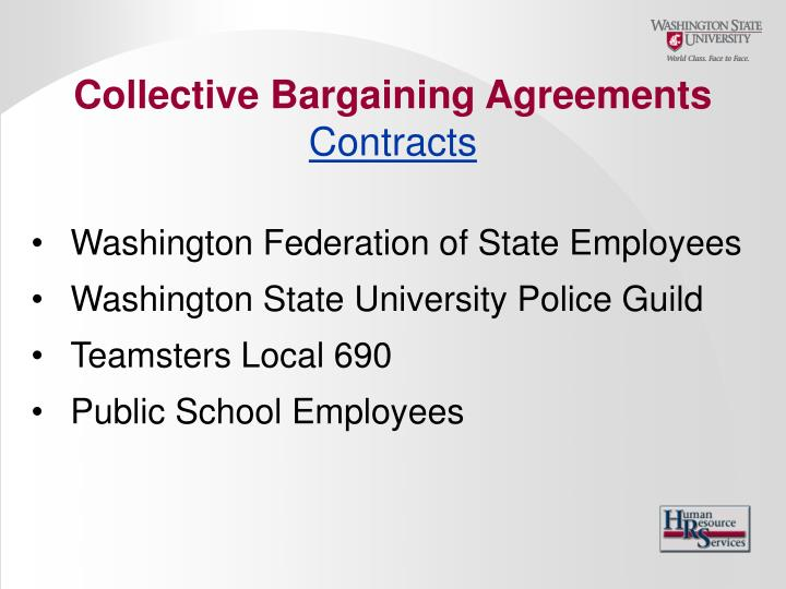 Collective Bargaining Agreements