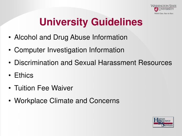 University Guidelines