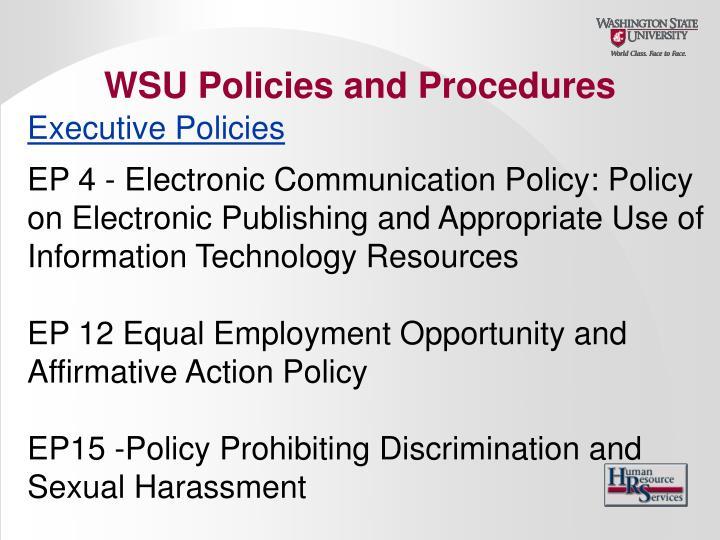 Executive Policies