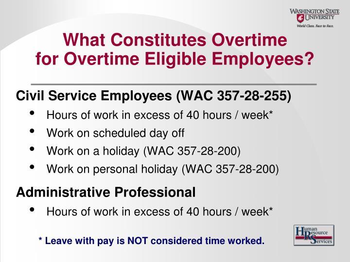 What Constitutes Overtime