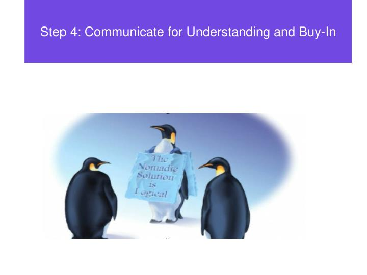 Step 4: Communicate for Understanding and Buy-In