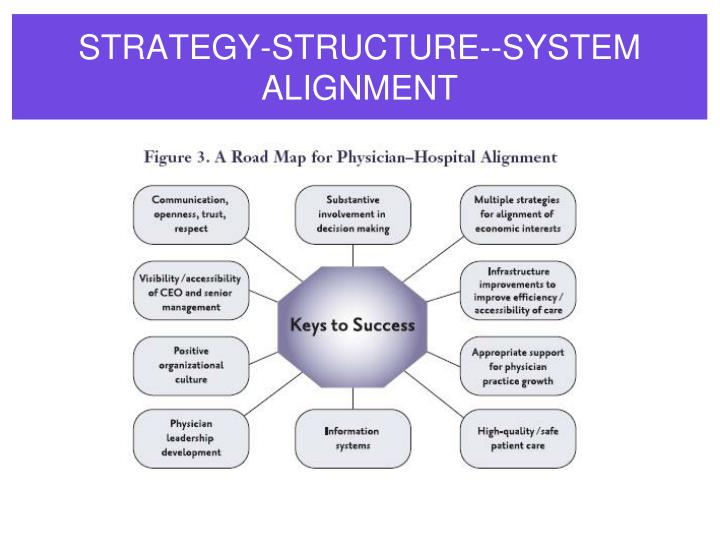 STRATEGY-STRUCTURE--SYSTEM ALIGNMENT