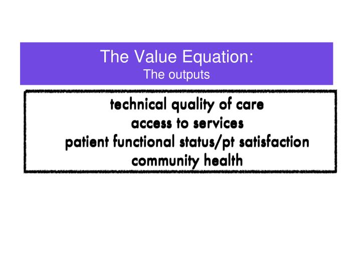 The Value Equation: