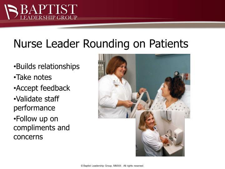 Nurse Leader Rounding on Patients