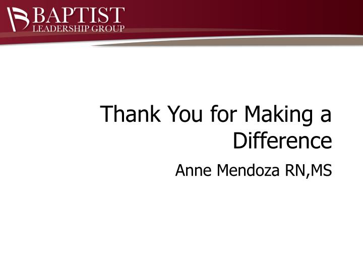 Thank You for Making a Difference