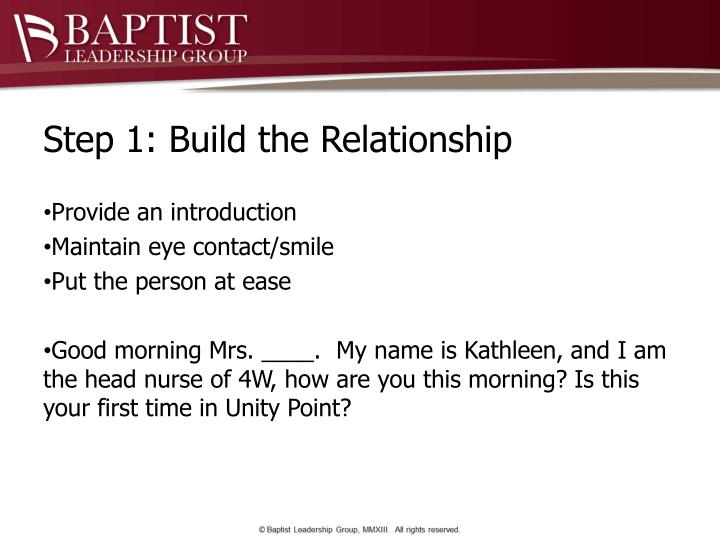 Step 1: Build the Relationship
