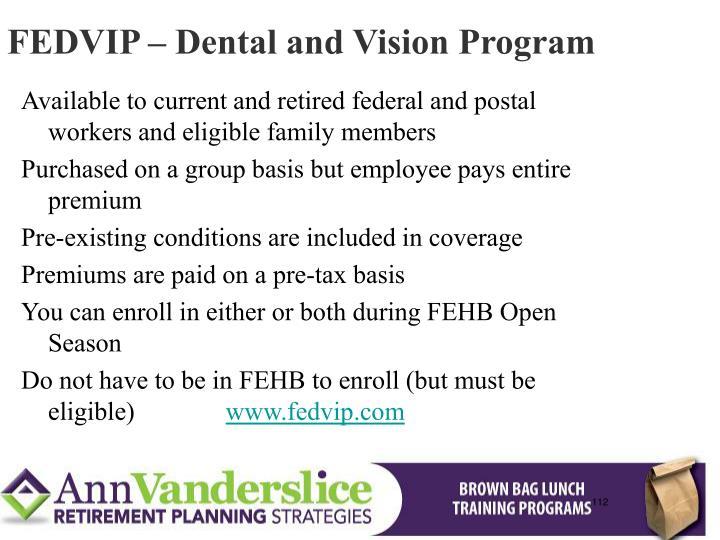 FEDVIP – Dental and Vision Program