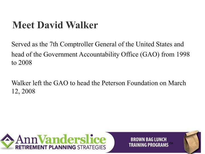 Meet David Walker