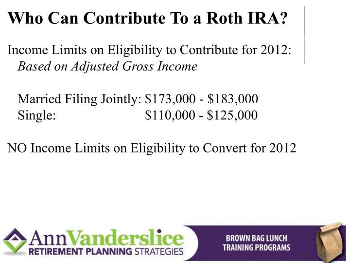 Who Can Contribute To a Roth IRA?