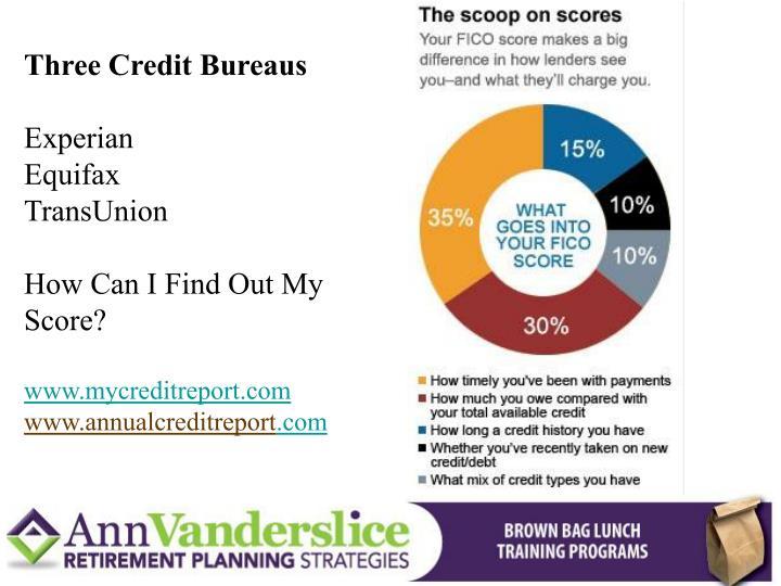 Three Credit Bureaus
