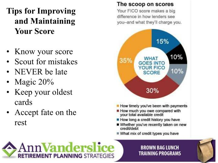 Tips for Improving and Maintaining Your Score