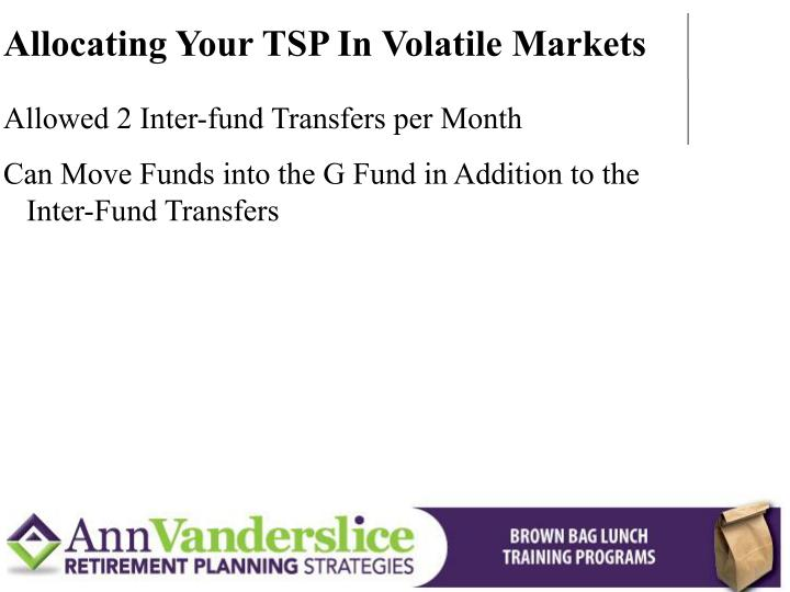 Allocating Your TSP In Volatile Markets