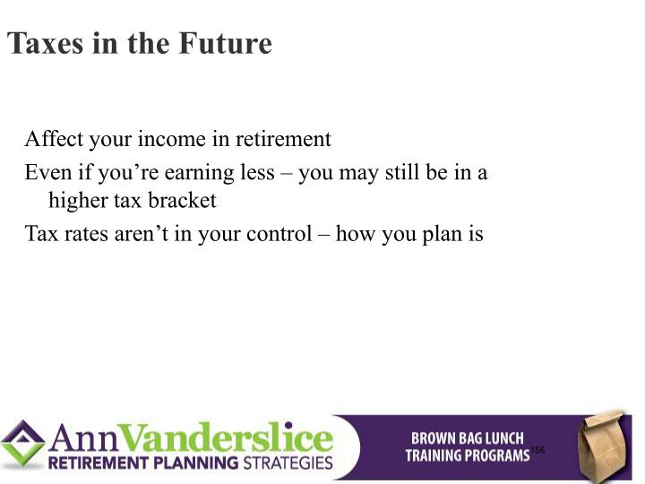 Taxes in the Future