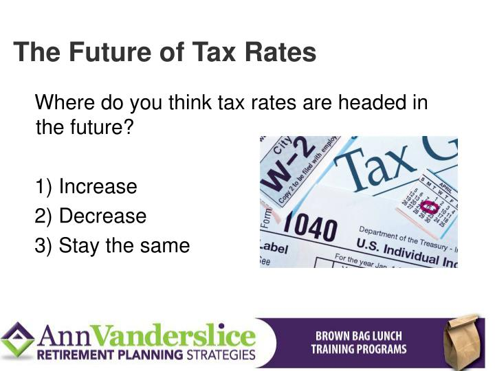 The Future of Tax Rates