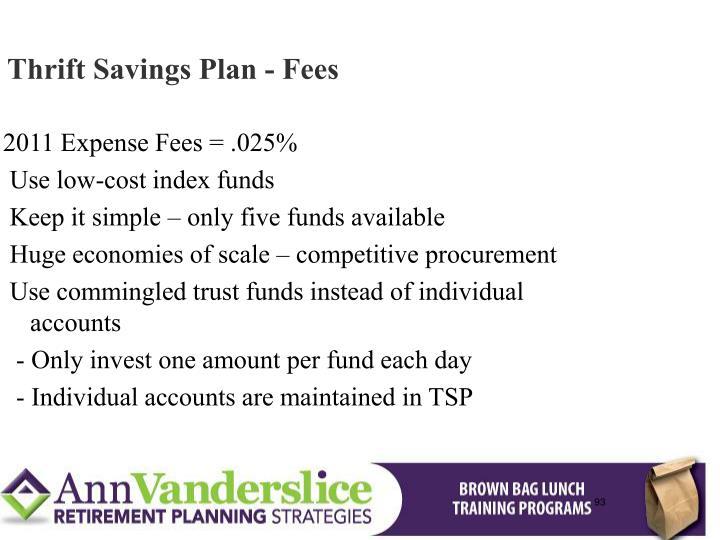 Thrift Savings Plan - Fees