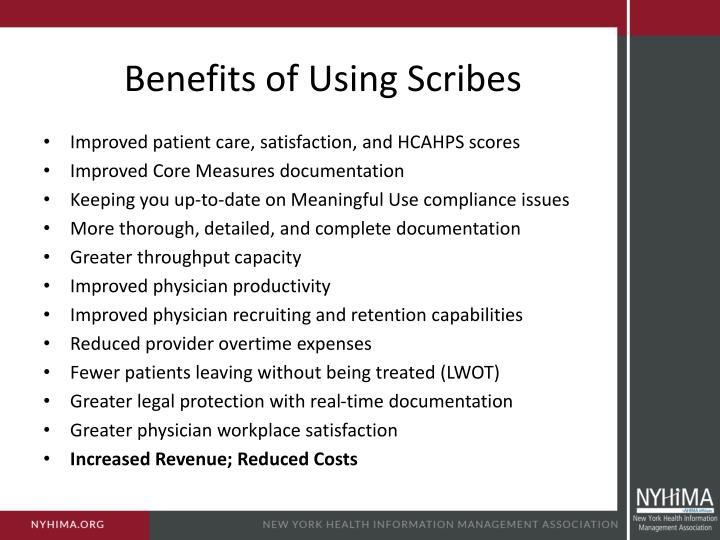 Benefits of Using Scribes