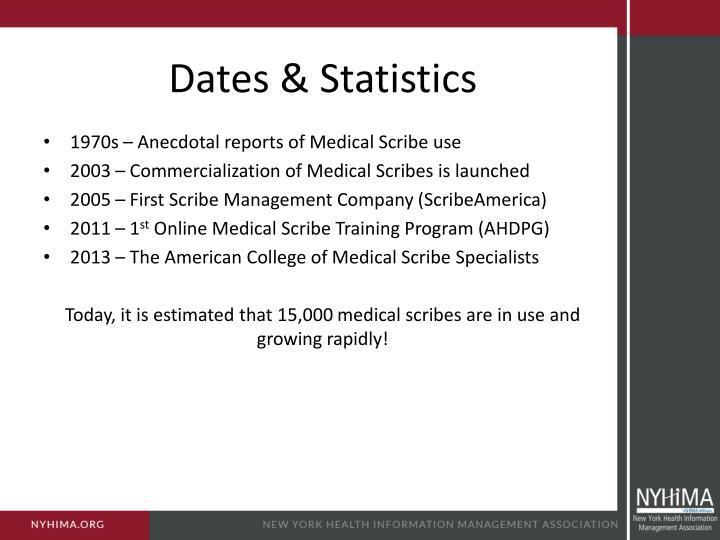 Dates & Statistics