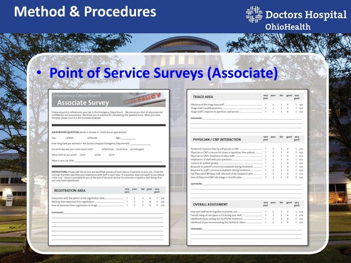 Point of Service Surveys (Associate)
