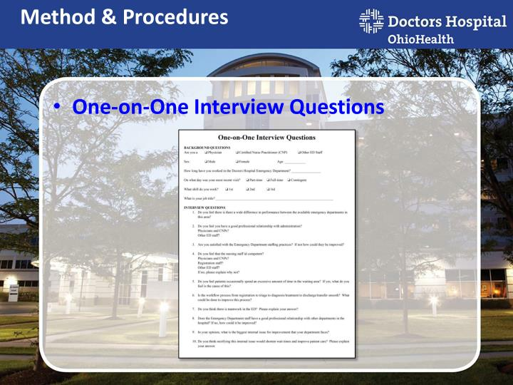 One-on-One Interview Questions