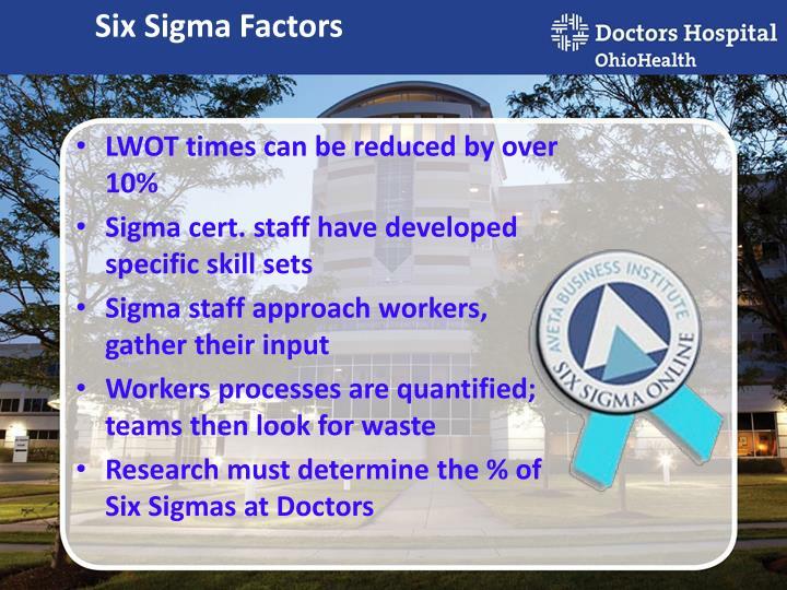Six Sigma Factors