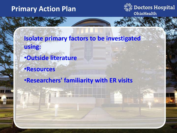 Primary Action Plan