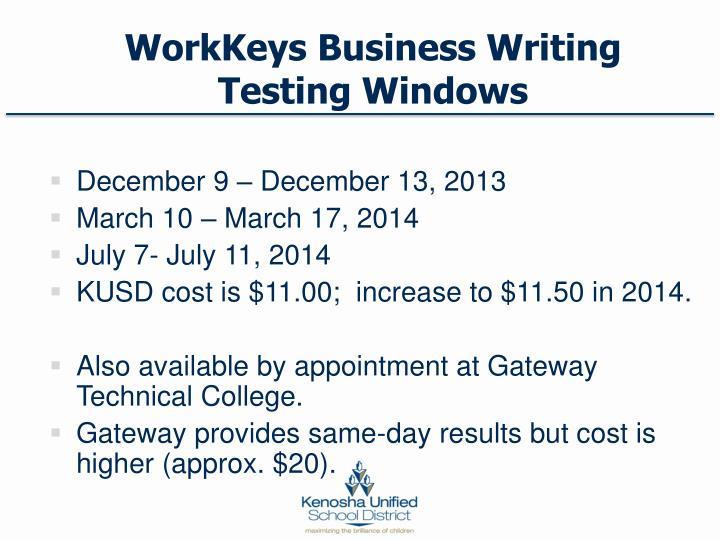 WorkKeys Business Writing