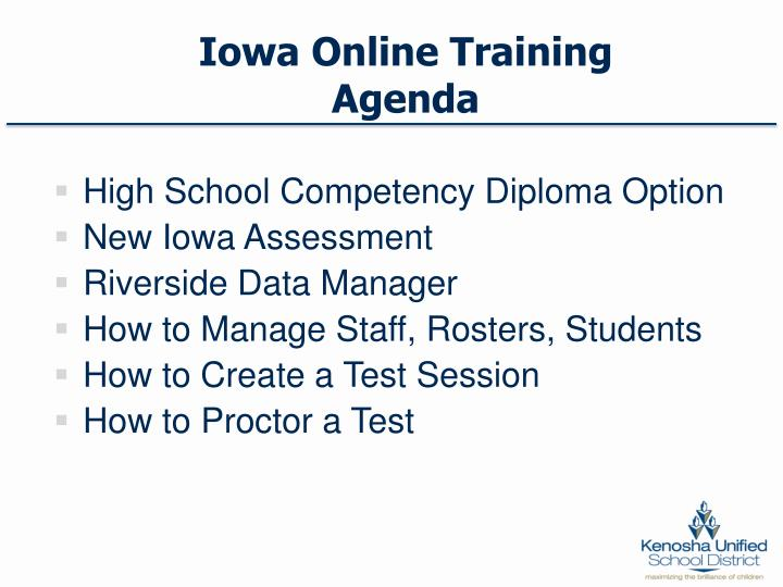 Iowa Online Training