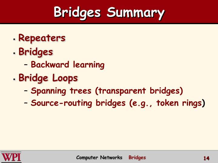 Bridges Summary