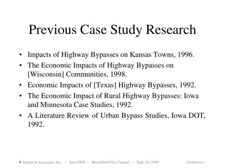 Previous Case Study Research