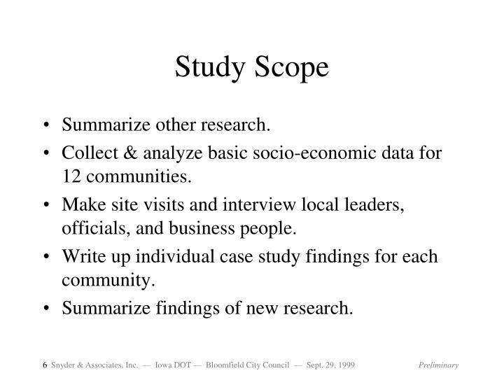 Study Scope