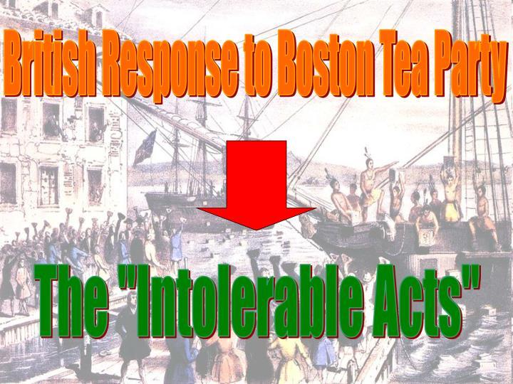 British Response to Boston Tea Party