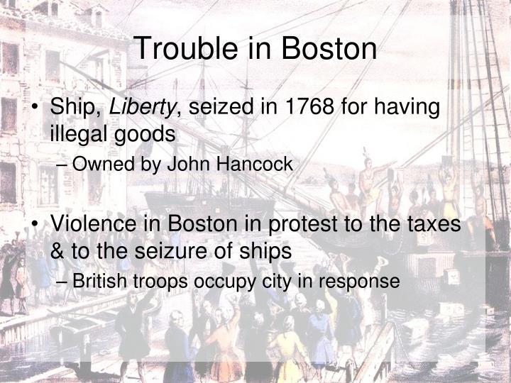 Trouble in Boston