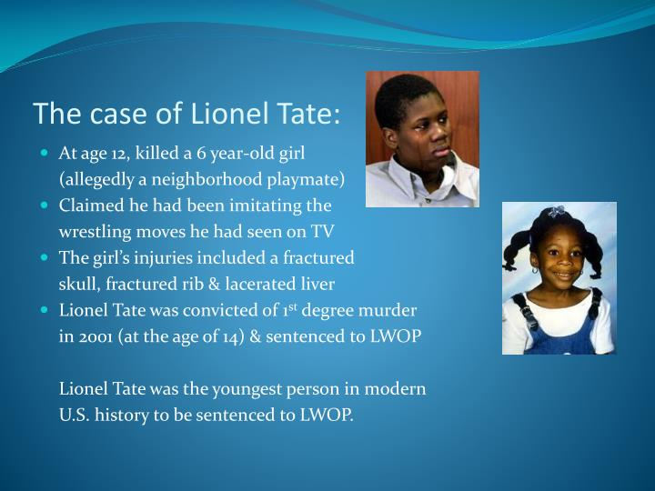 The case of Lionel Tate: