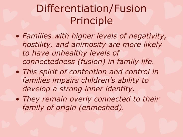 Differentiation/Fusion Principle