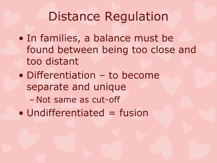 Distance Regulation