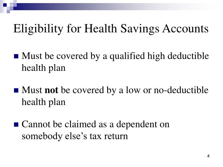 Eligibility for Health Savings Accounts