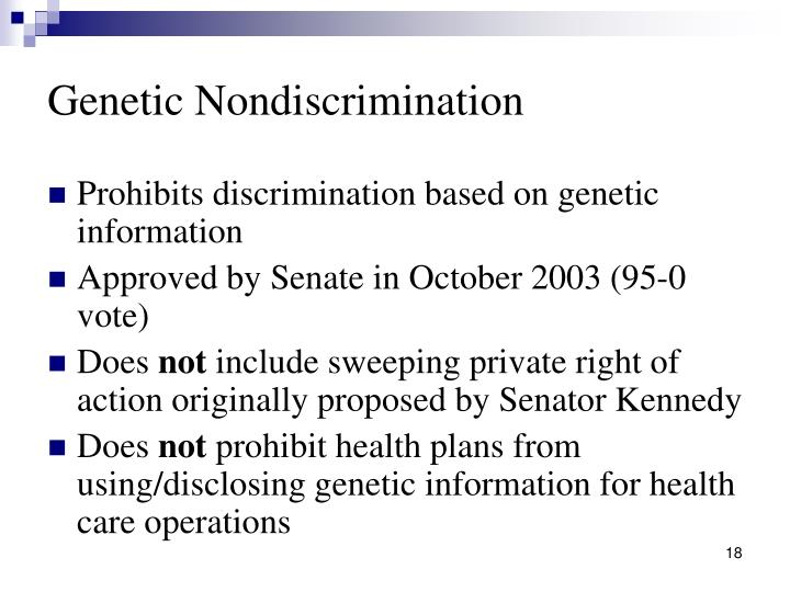 Genetic Nondiscrimination